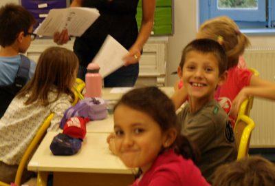 Des enfants heureux et qui aime lécole bilingue Greenfield à Lyon